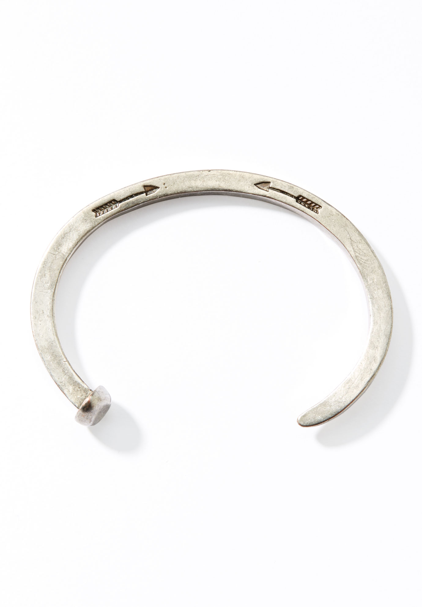 Adjustable Nail Bracelet, SILVER