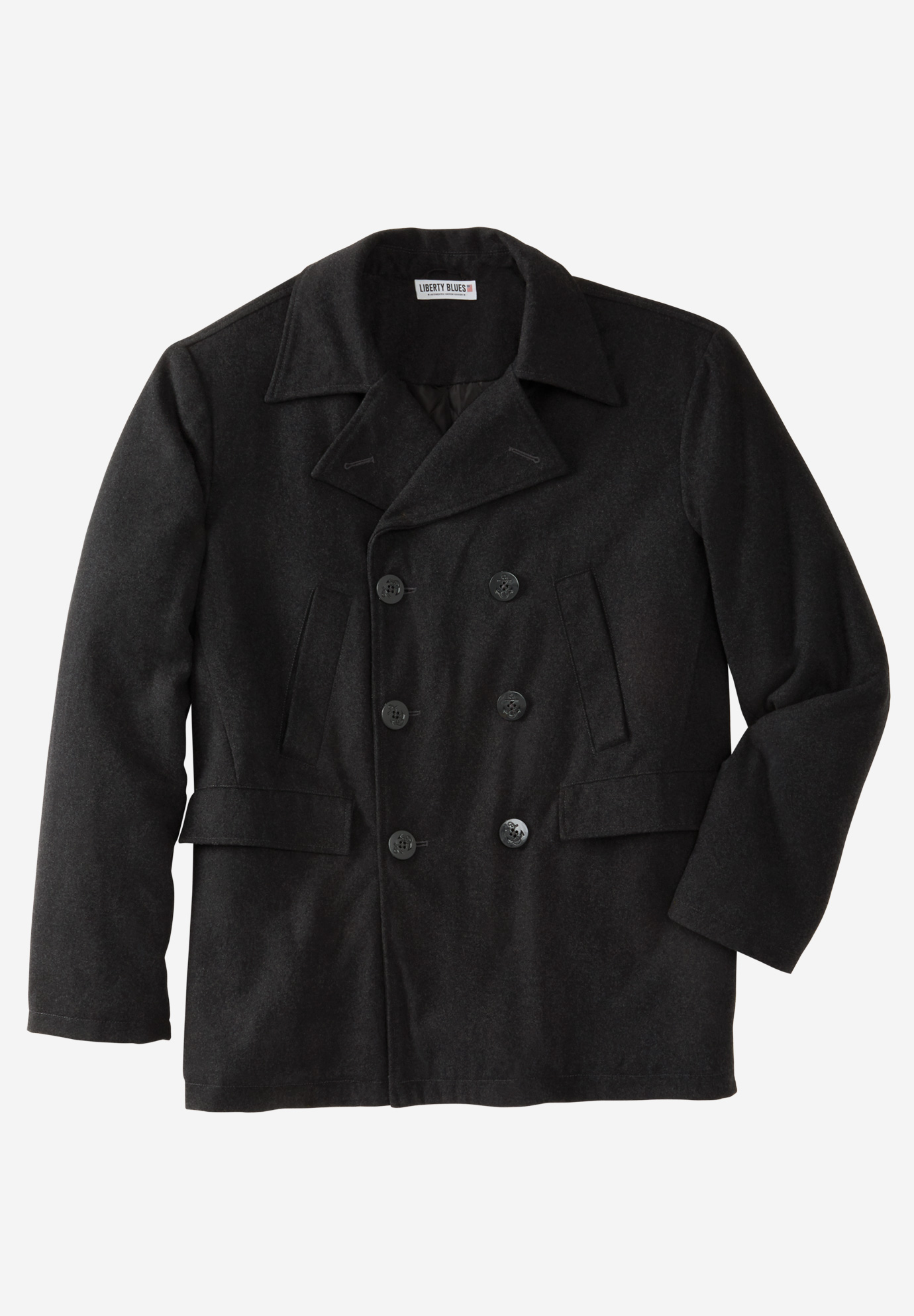 Liberty Blues™ Double-Breasted Wool Peacoat,