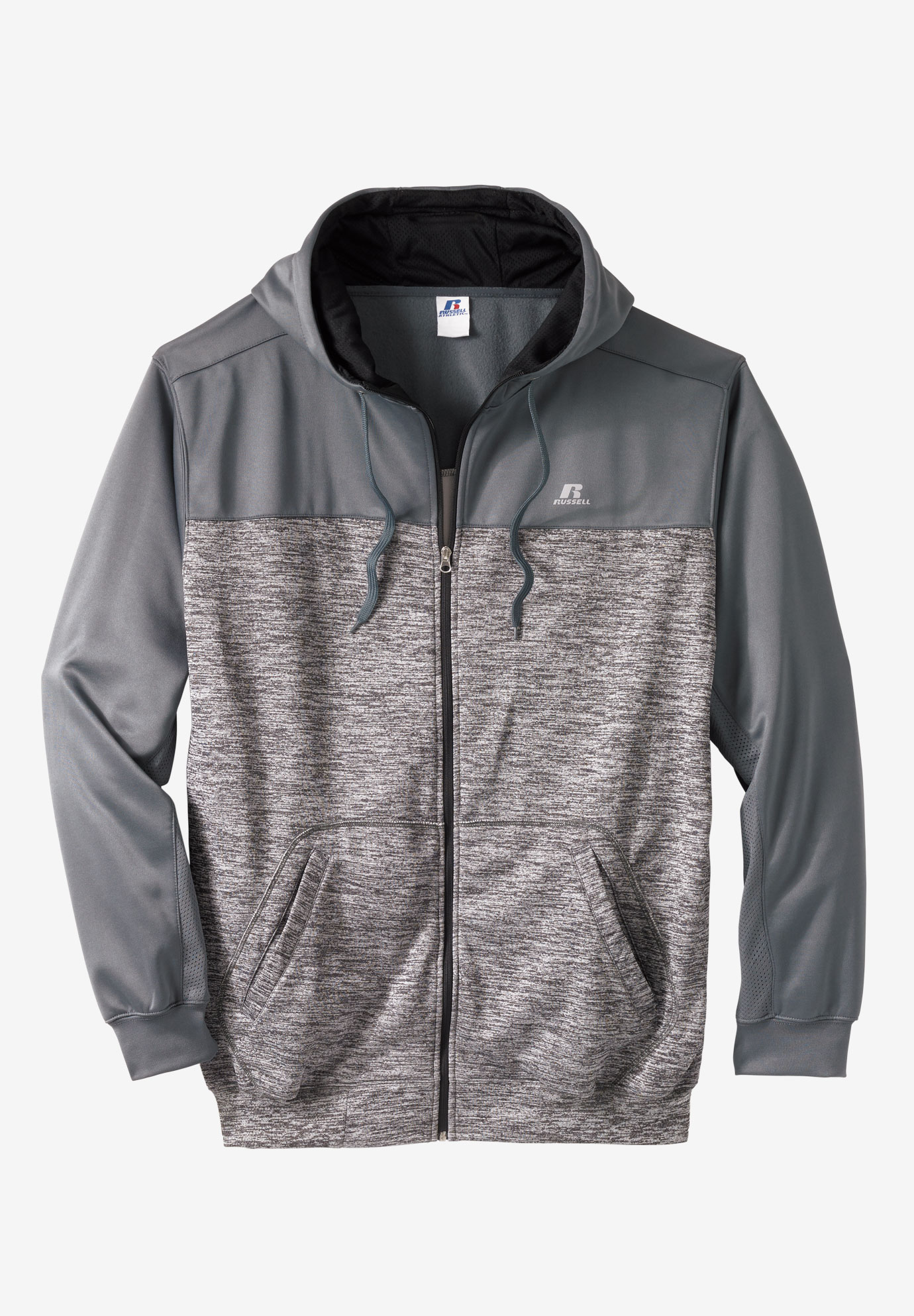 Poly Fleece Full-Zip Hoodie by Russell Athletic®,