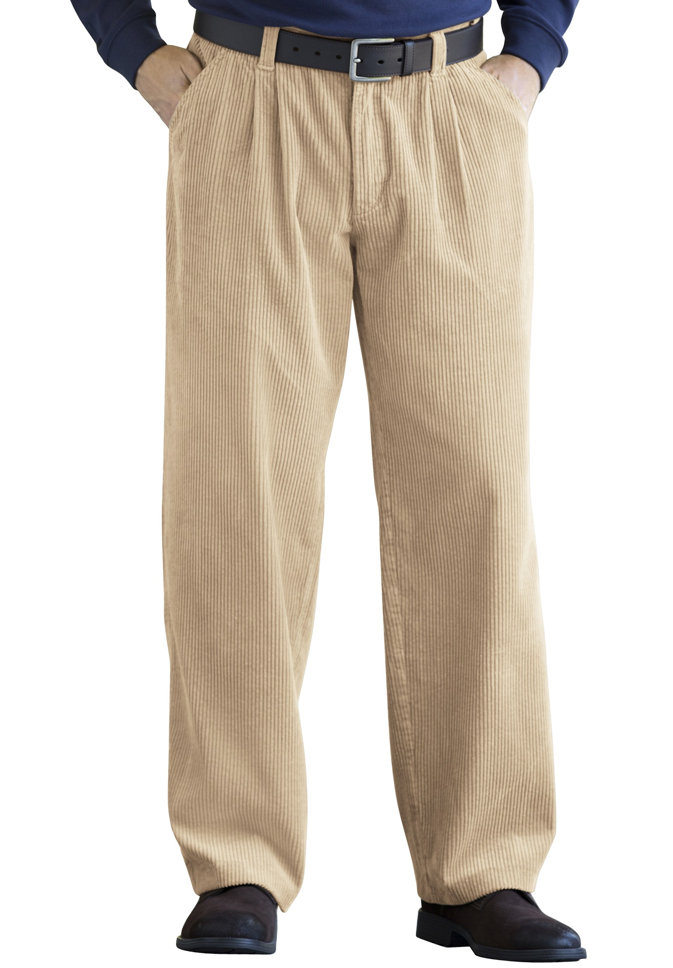 Six-Wale Corduroy Pleat-Front Pants,