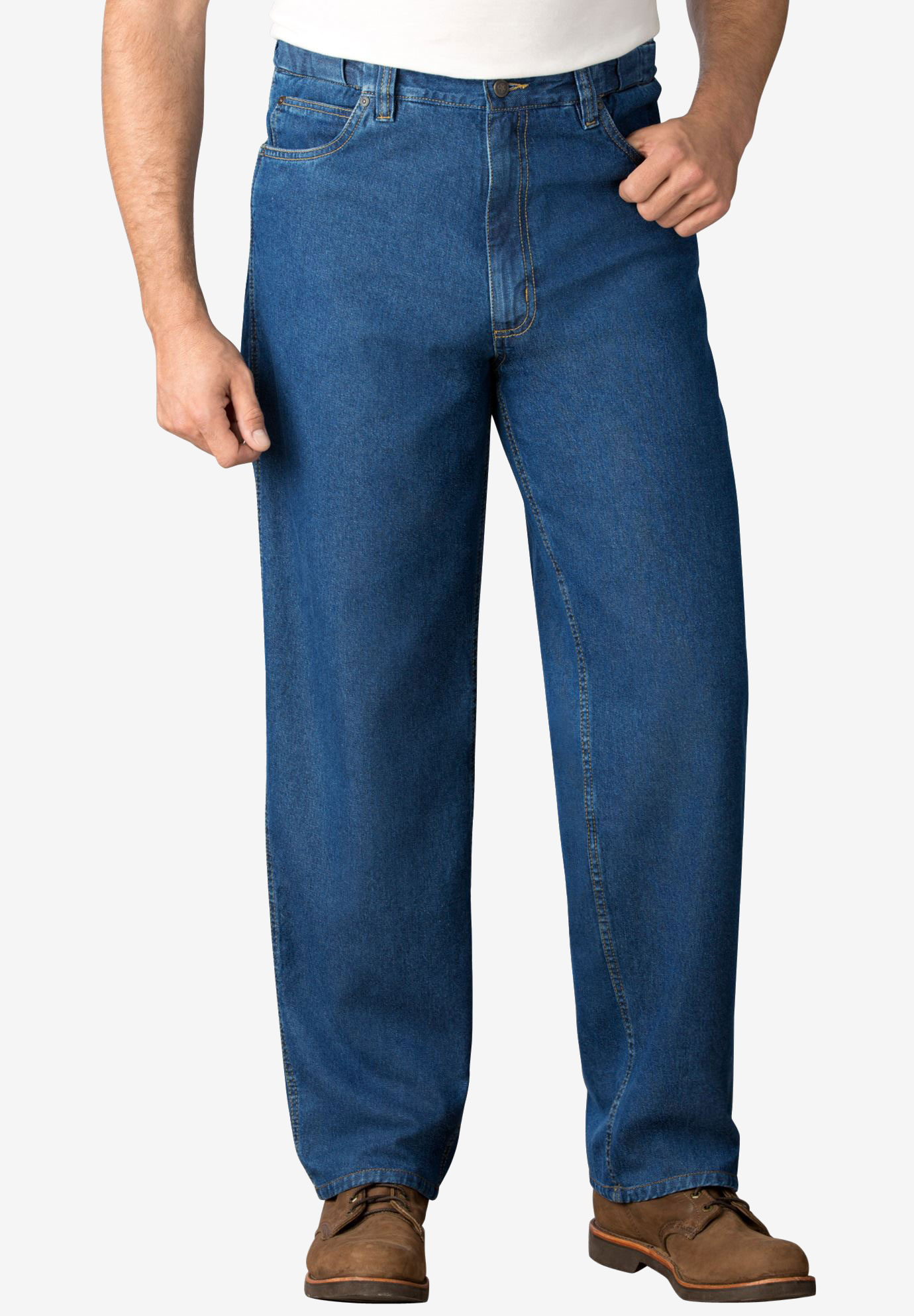 Expandable Waist Relaxed Fit Jeans,
