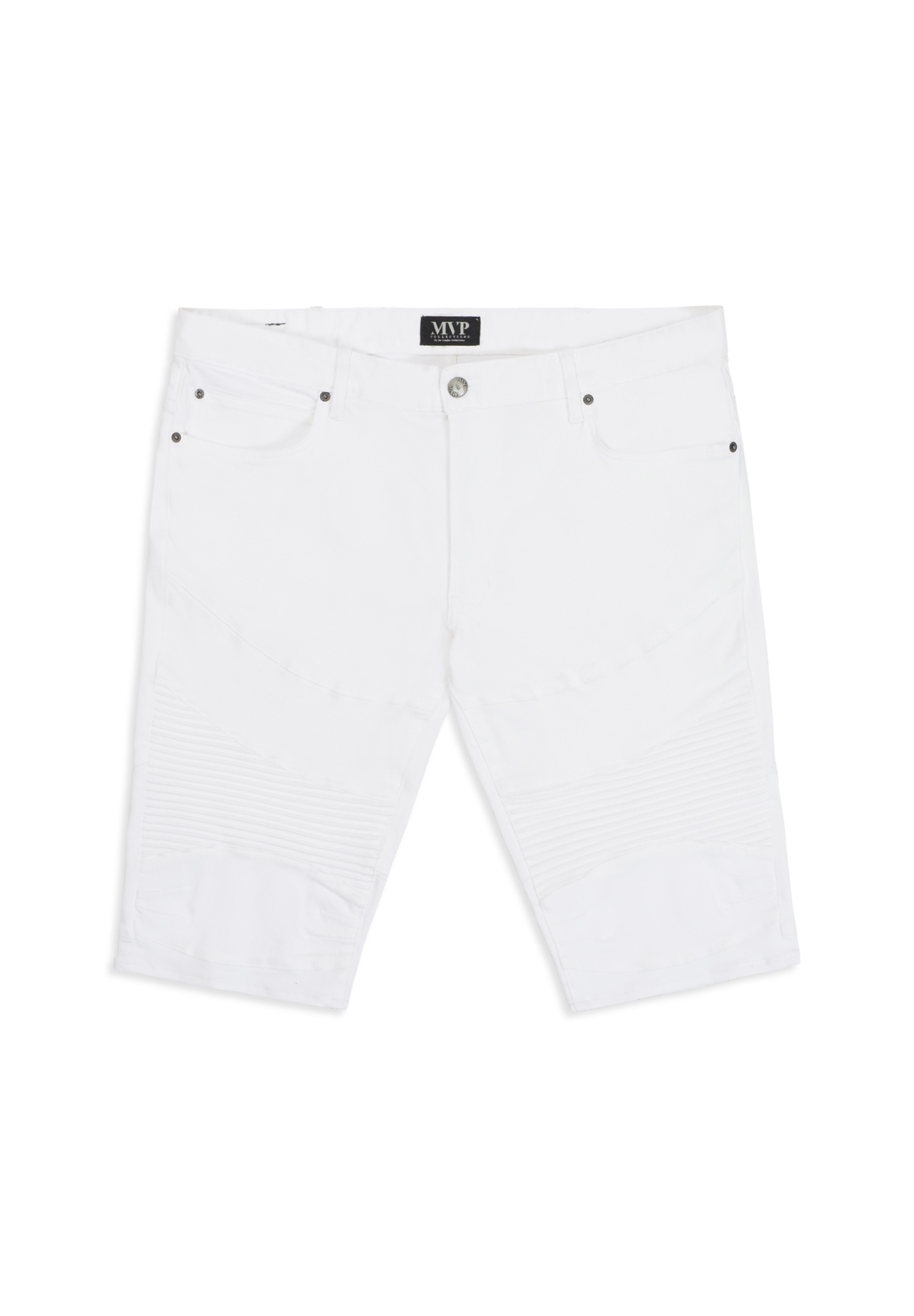 MVP Collections® Denim Moto Shorts,