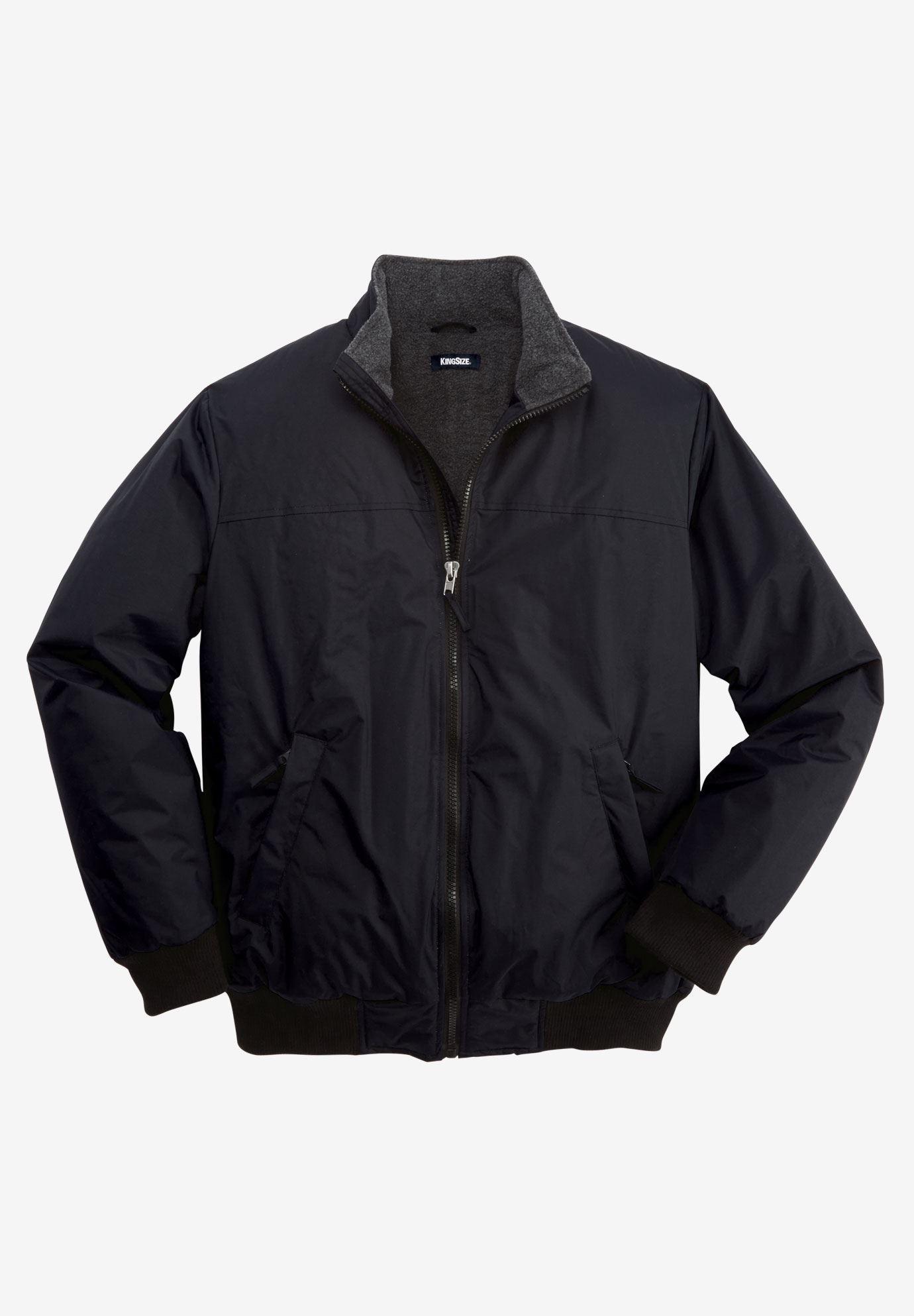 86cda2d6949f Fleece-Lined Bomber Jacket  Big and Tall Coats & Parkas   King Size