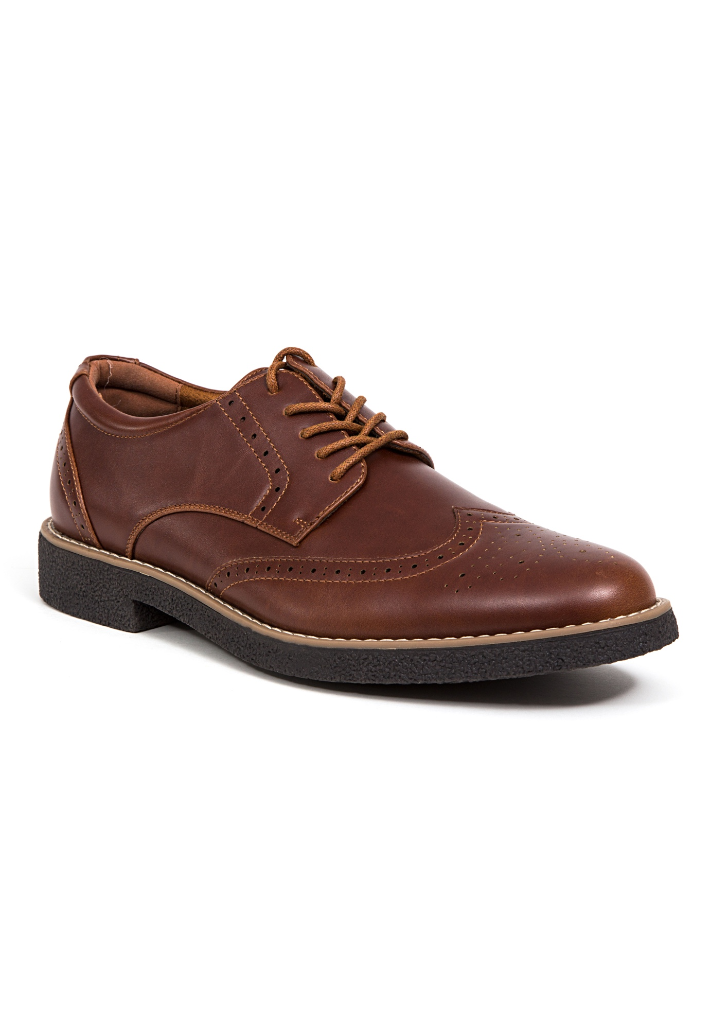 Deer Stags® Creston Comfort Wingtip Oxford Shoes with Memory Foam,