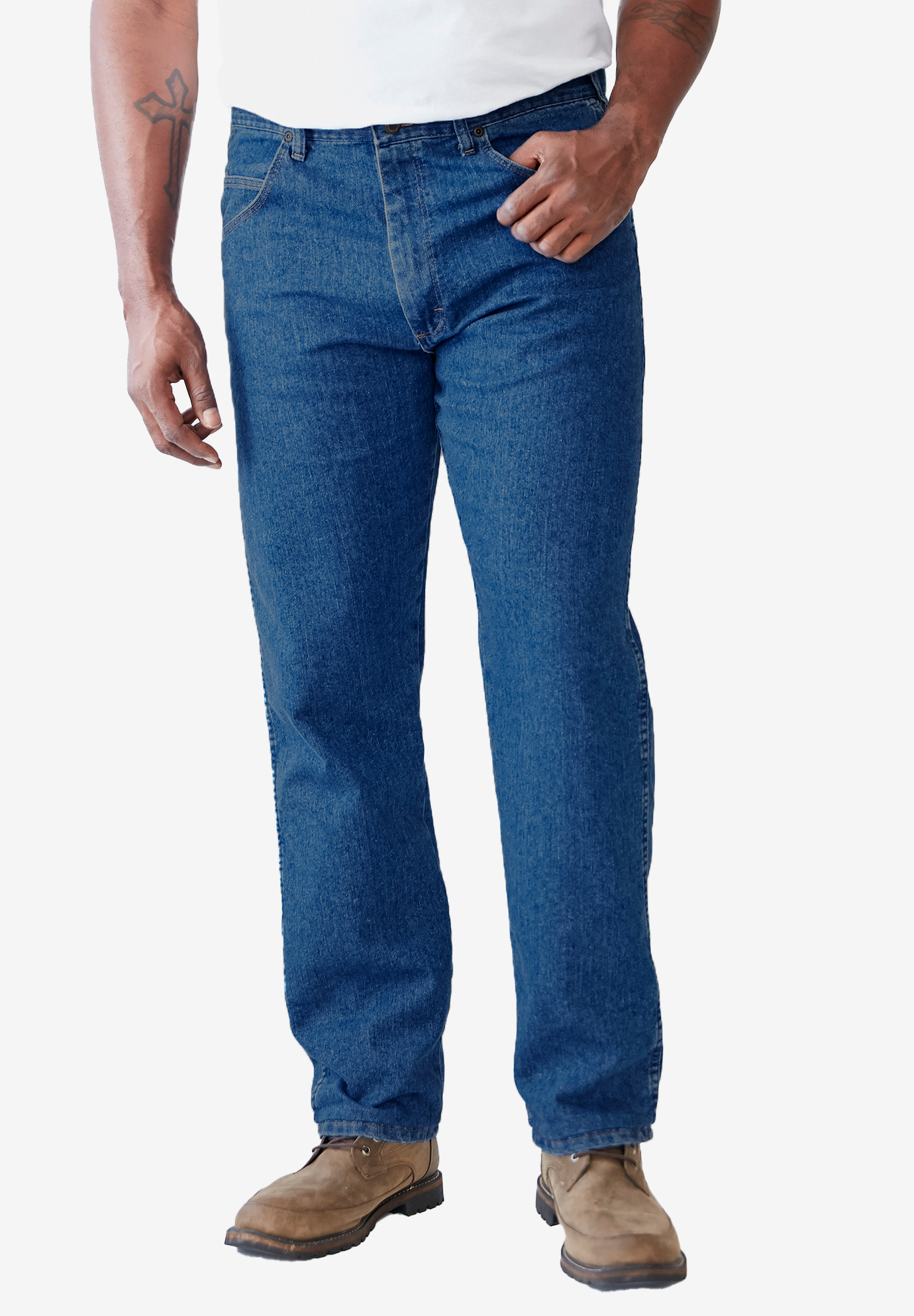 Wrangler® Regular Fit Stretch Jeans,