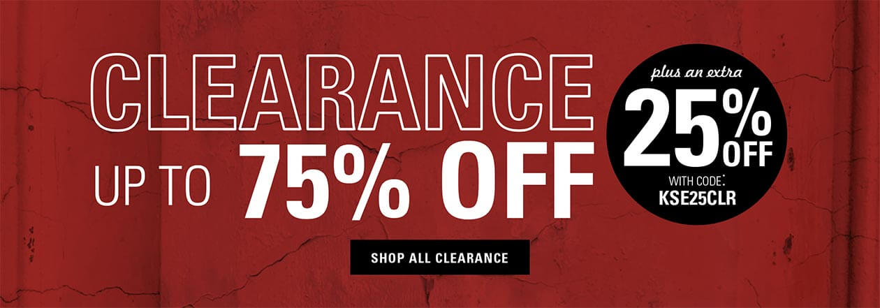 Clearance up to 75% off plus an extra 25% off with code KSE25CLR. Shop all Clearance.