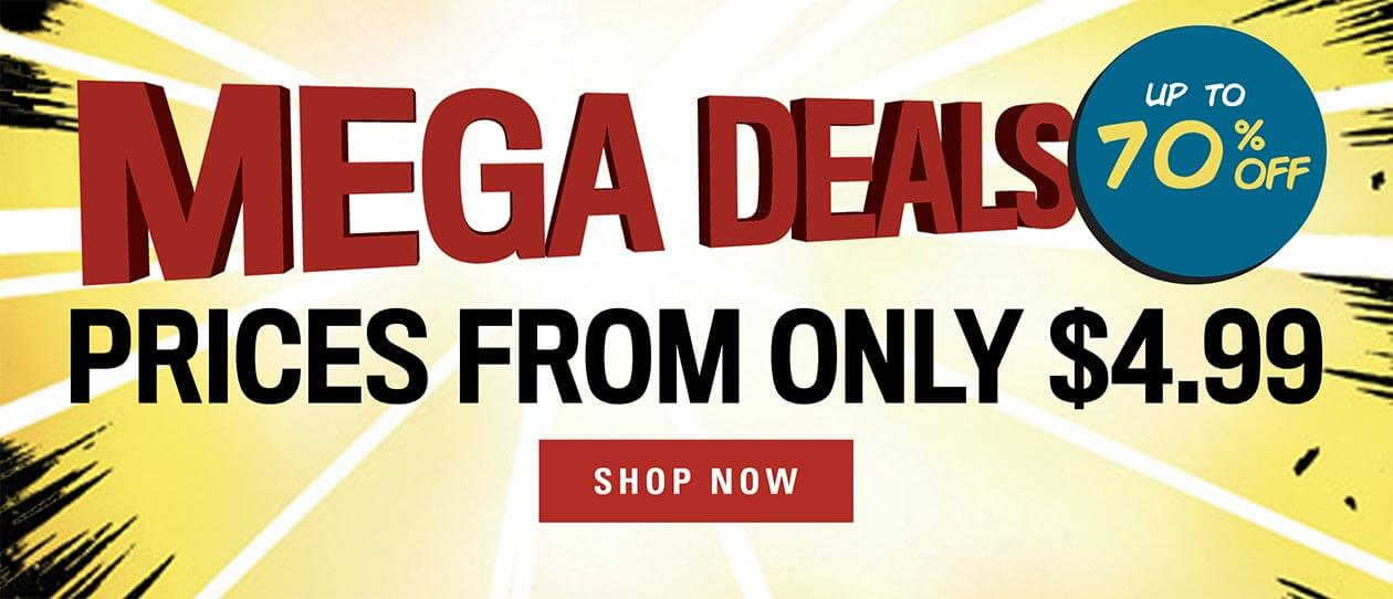 Mega Deals up to 70% off. Prices from only $4.99. Shop now.