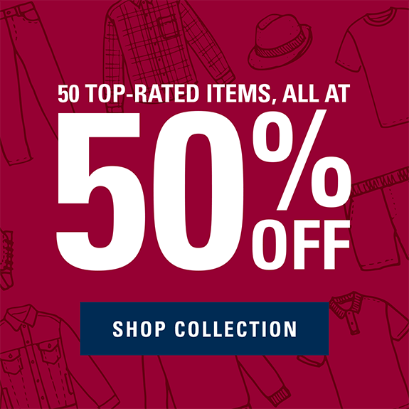 50 top rated items all at 50% off shop collection