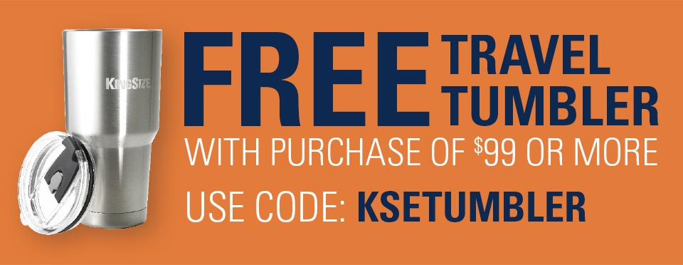 Free Travel Tumbler with purchase of $99 or more. Use code KSETUMBLER